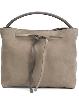 drawstring grey bag