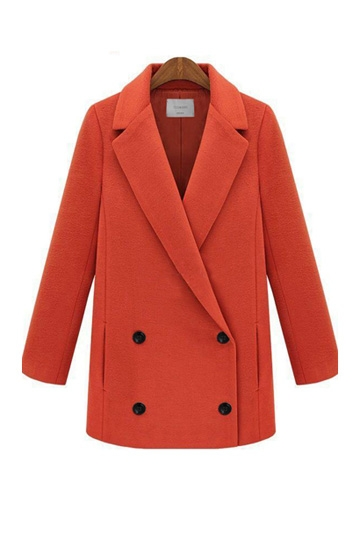 Lapel Double-breasted Coat [FEBK0147]- US$72.99 - PersunMall.com