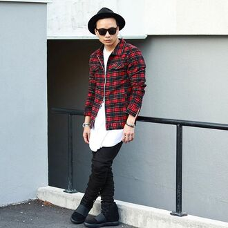 jacket maniere de voir buffalo red check jacket red check flannel 36683