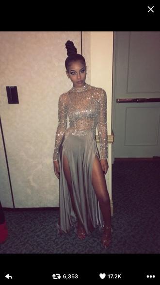 dress gold sparkle prom dress