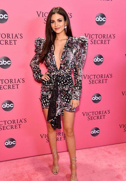 shoes glitter victoria's secret victoria justice celebrity plunge dress