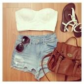 tank top,bag,short,sunglasses,shoes,shorts,denim shorts