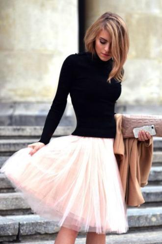 skirt tulle skirt peach skirt the girl that loves