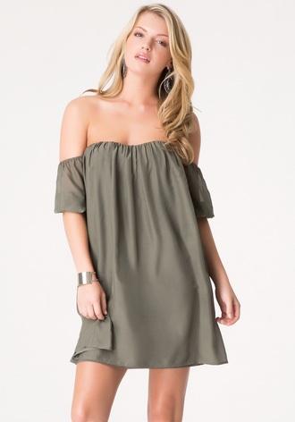 dress grey dress off the shoulder dress