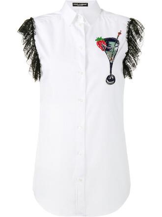 shirt sleeveless embroidered women plastic white cotton silk top