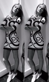 dress,black and white,gwyneth paltrow,mini dress