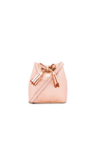 bag bucket bag metallic copper