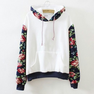 shirt hoodie floral shirt girly trendy