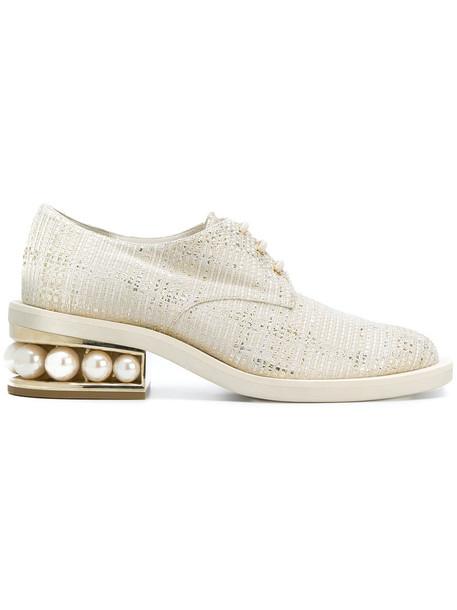 Nicholas Kirkwood women pearl shoes leather white cotton