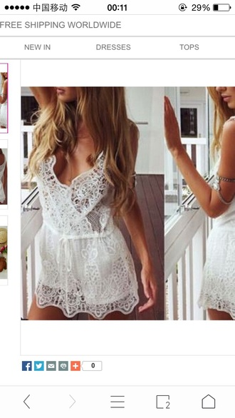 romper dress lace