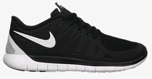 shoes trainers me nike free 5.0 urgent black white