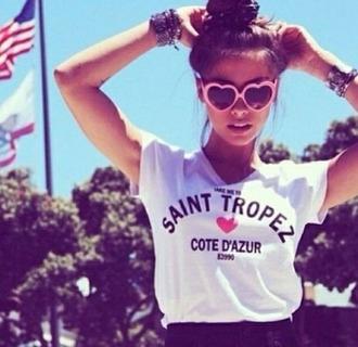 sunglasses tank top top t-shirt shorts shirt nail accessories jewels hair accessory make-up