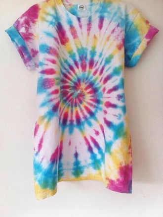 shirt multicolor rainbow blue shirt pink purple and blue love more yellow green
