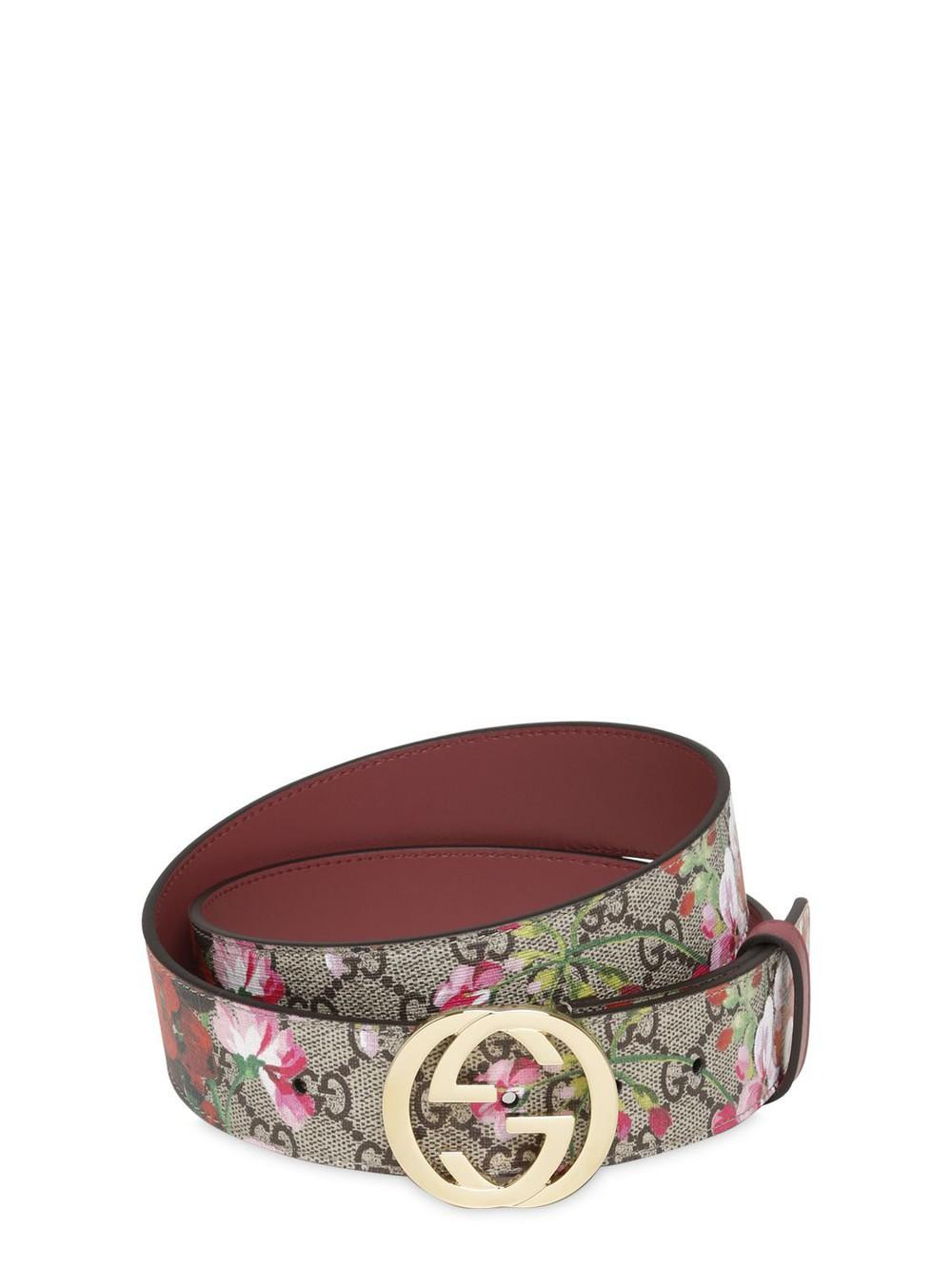 5edc2f51f9b GUCCI GG-logo 2cm leather belt in pink - Wheretoget