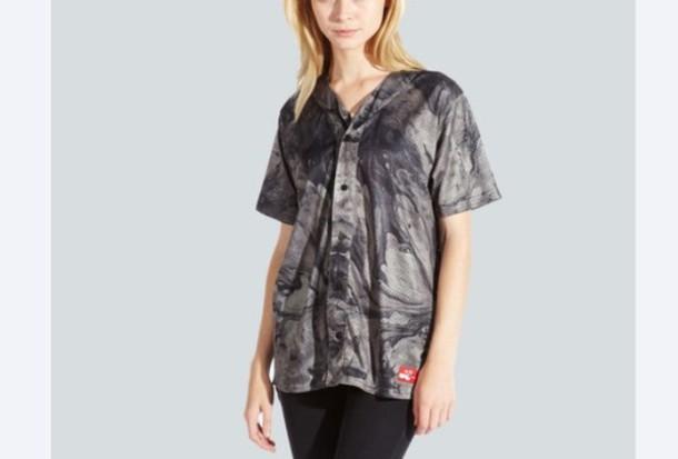 blouse drop dead clothing baseball tee drop dead clothing