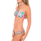 Luli fama weave center bandeau bikini top