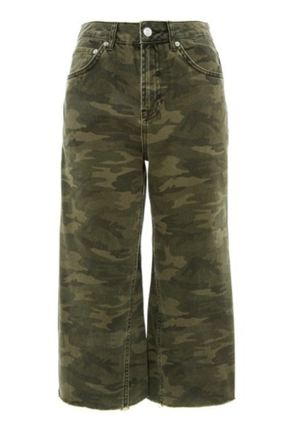 Topshop jeans cropped jeans cropped camouflage khaki
