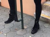 shoes,black,sneaker heels,sneakers,black lace up sneaker heels,black heels,lace up sneaker heels,high top sneakers,safiya nygaard