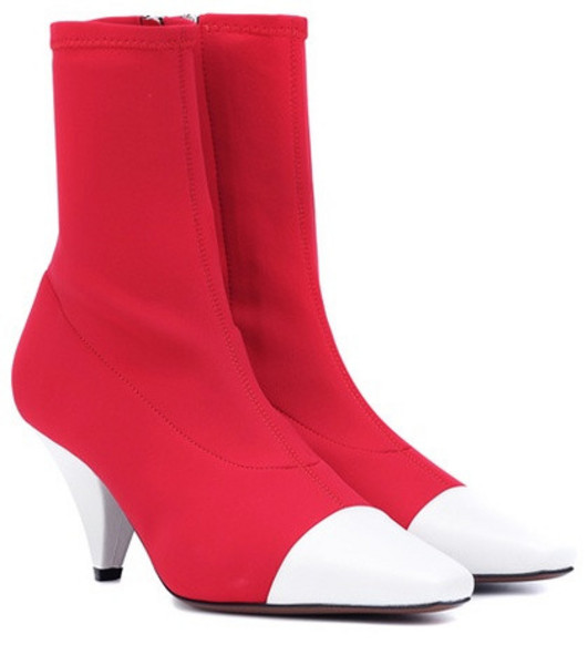 Neous Burkia leather-trimmed sock boots in red