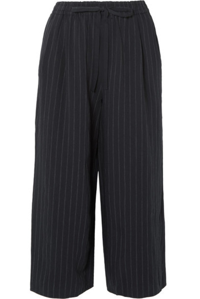 Vince pants wide-leg pants cropped navy