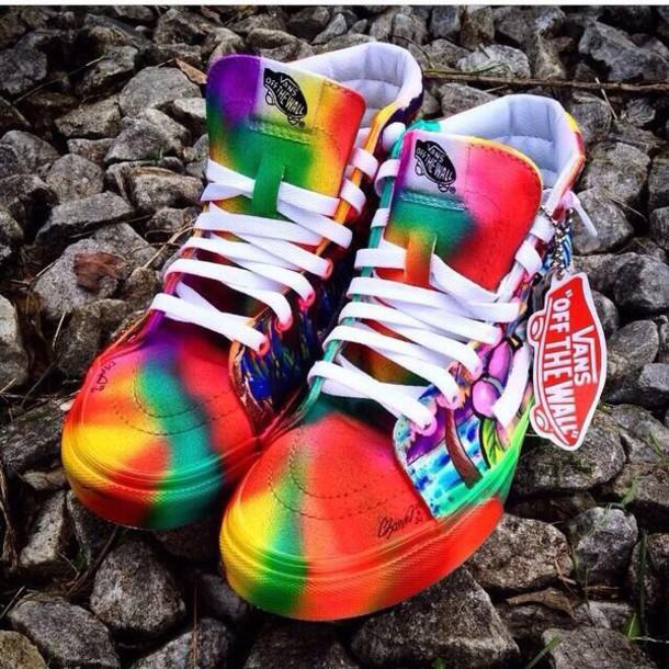 Custom Paint Splatter Shoes