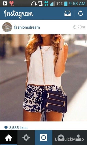 zippers tank top black bag shorts purses black bag with gold details