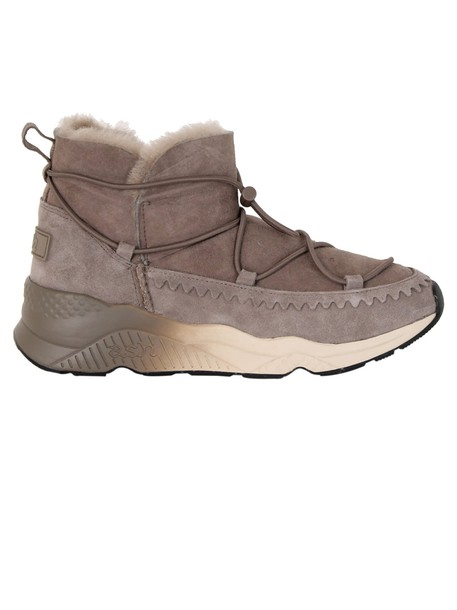 ASH shearling boots taupe shoes