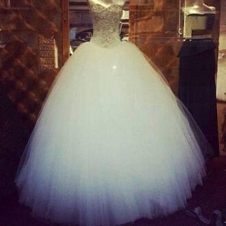 dress shiny wedding dress prom dress pretty white dress