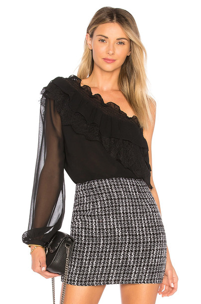L'Academie blouse black top