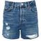Tall ripped ashley denim shorts - mid stone