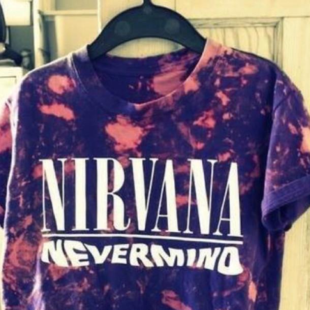 shirt nirvana tie dye