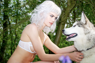 underwear white lingerie lingerie set fashion clothes style model bra bralette cheeky panties sexy cute outfit women girly girl reckless wolf wolfpack swimwear top shirt prey animal wolf pretty white top