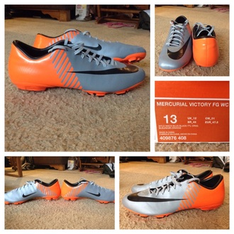 shoes mercurials nike shoes soccer shoes orange shoes grey shoes soccer menswear dress
