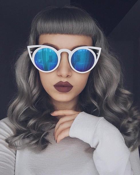 sunglasses cat eye blue sunglasses