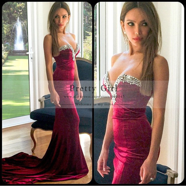 Aliexpress.com : buy red formal mermaid elegant long party evening dresses 2015 sexy sweetheart backless prom gown women vestidos de renda maxi dress from reliable dress sky suppliers on pretty girl trade co., ltd