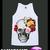 Skull Skullhead Goth Gothic Skeleton Flower Floral Shirt Tshirt Singlet Vest R10238 Tank Top - Tanks Tops & Camis | RebelsMarket