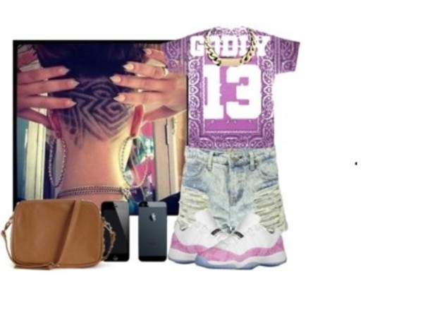 the best attitude 146d4 116dd shoes pink air jordan trill bandana print shorts white swag dope cute back  to school bag