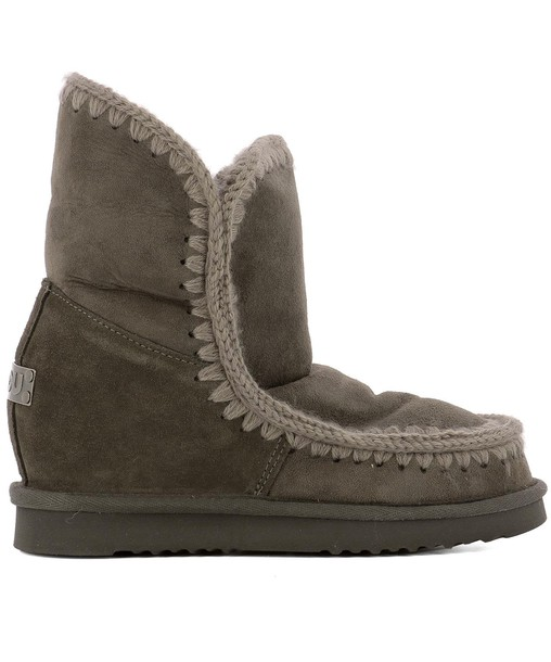 Mou leather ankle boots ankle boots leather brown shoes