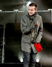 coat,tyler joseph,celebrity,singer,grey coat,mens coat,winter coat,pants,leather pants,black pants,mens pants