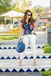 adoredbyalex,blogger,blouse,top,jeans,shoes,bag,sunglasses,jewels