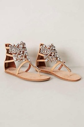shoes,sandals,jeffrey campbell,jewels,pretty,flats,beach,fun in the sun,sparkle,glitter,glitter shoes,gold,silver,sequins,sequin shoes,rhinestones,nude,nude sandals,summer