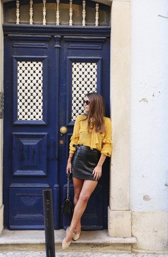 seams for a desire blogger blouse skirt shoes bag sunglasses jewels