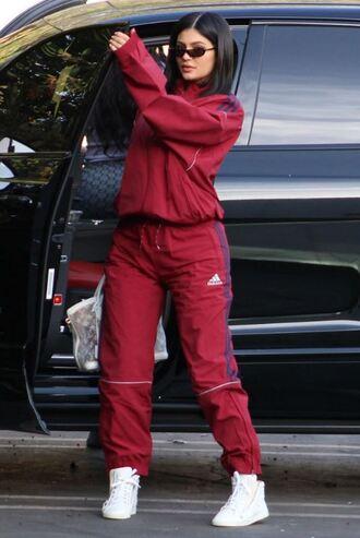 pants sweatshirt sweatpants kylie jenner kardashians streetwear jacket