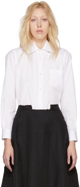shirt collar shirt white satin top