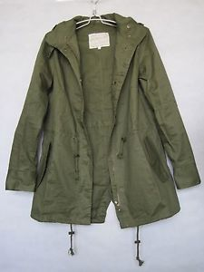 New Womens Hoodie Drawstring Army Green Jacket Military Hooded Trench Parka Coat | eBay