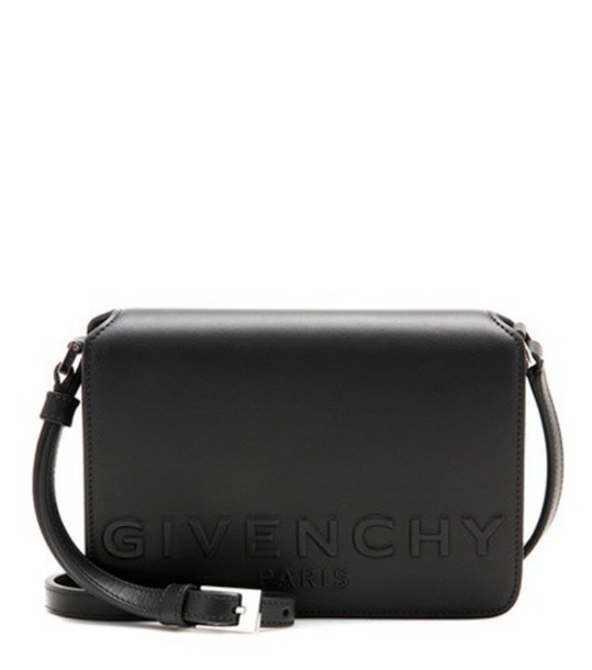 Givenchy New Small Xbody Leather Crossbody Bag in black