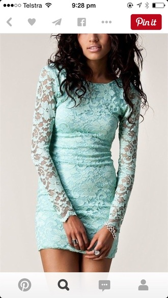 dress tiffany blue lace dress blue dress