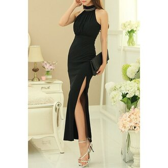 dress black maxi dress evening dress elegant slit dress sexy hot black dress gown bodycon bodycon dress sexy dress sexy party dresses prom dress prom prom gown classy classy dress elegant dress long prom dress black prom dress summer summer dress spring outfits girly girly dress cute cute dress romantic romantic dress romantic summer dress trendy style stylish