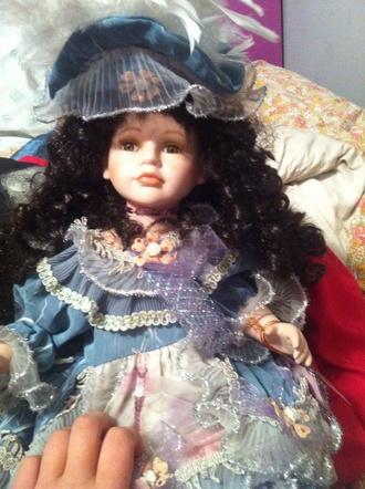 home accessory victorian doll