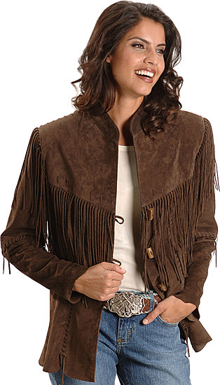 Scully women's fringed boar suede leather jacket